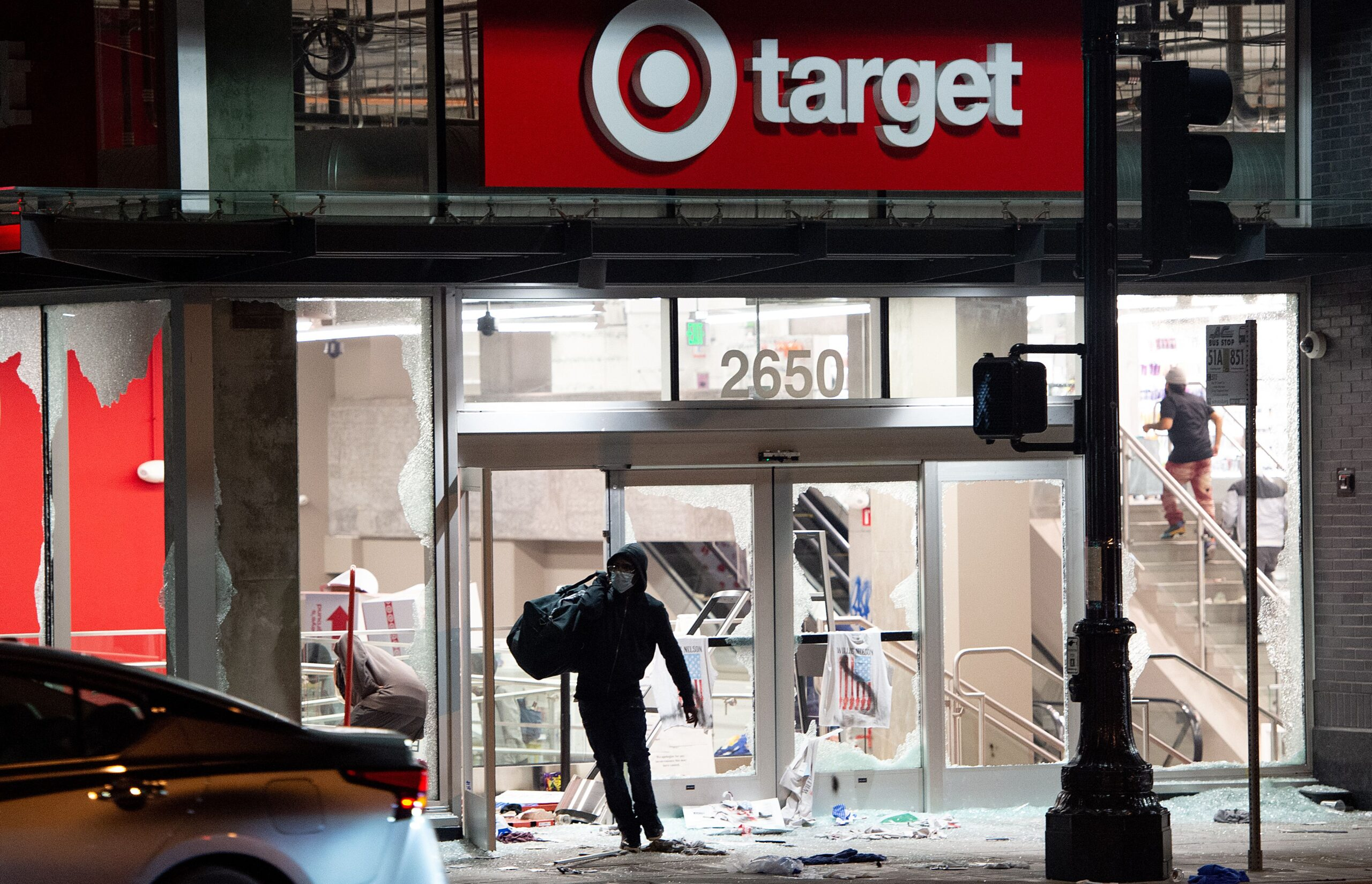 Target Looted by Rioters